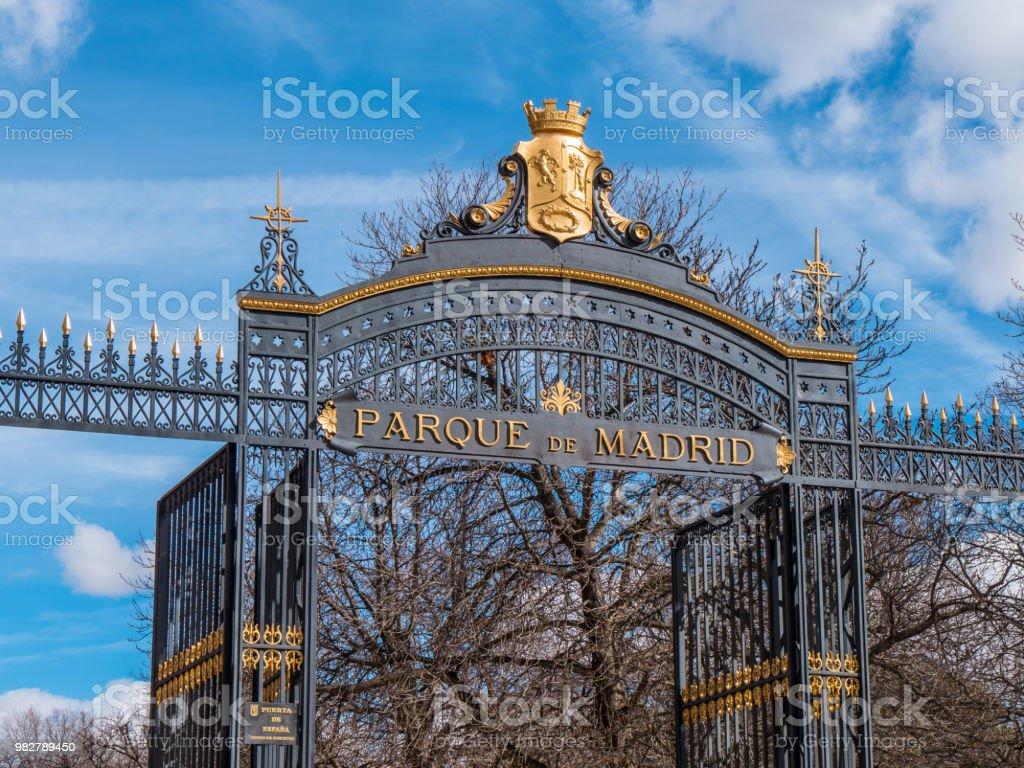 Wonderful Entrance Gate to Retiro Park in Madrid