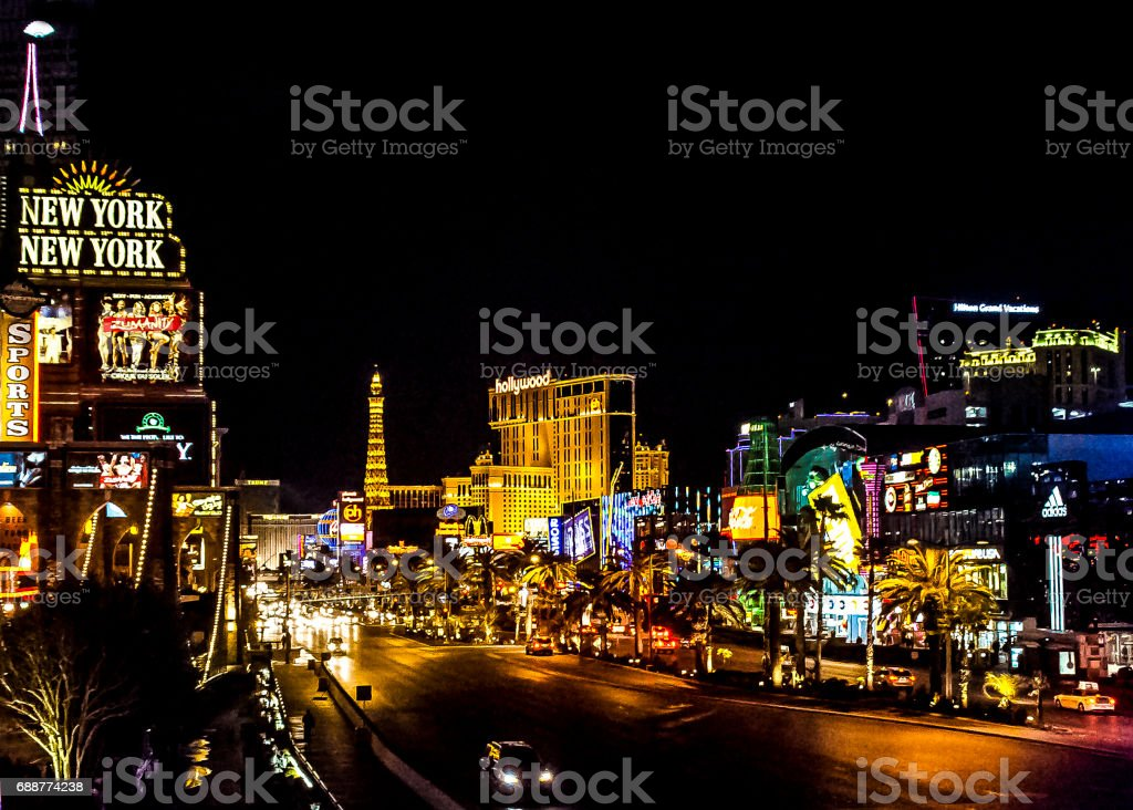 Wonderful Las Vegas Strip stock photo