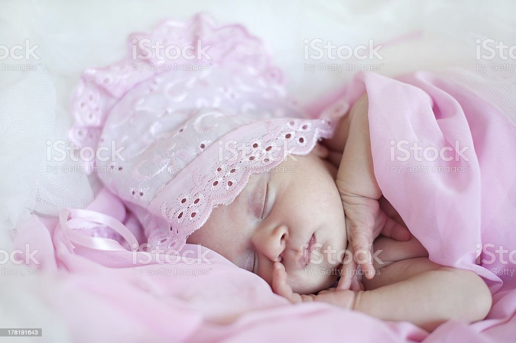wonderful little baby girl in a pink hat stock photo \u0026 more pictureswonderful little baby girl in a pink hat royalty free stock photo