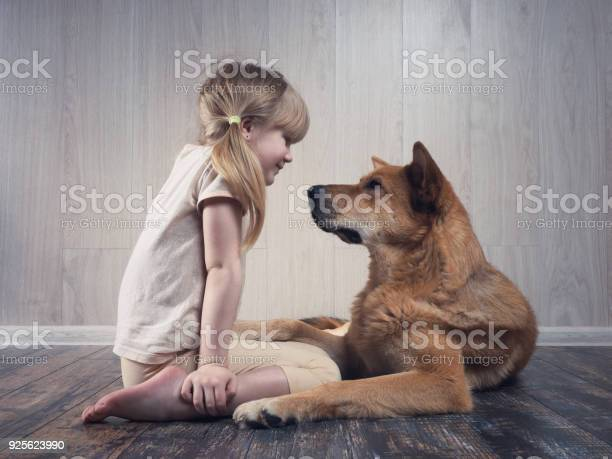 Wonderful little girl and a huge dog communicate with each other picture id925623990?b=1&k=6&m=925623990&s=612x612&h=swix o4a78qjezj29y7xq43vbe18er3n6jcr0y6kfec=