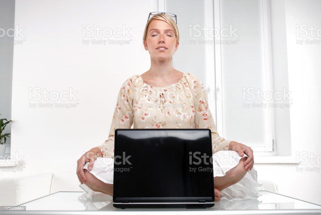 Wonderful meditating royalty-free stock photo