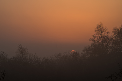 wonderful morning light at sunrise