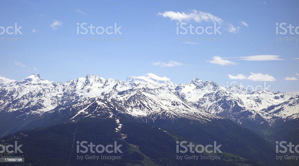 Wonderful mountain range in Switzerland royalty-free stock photo