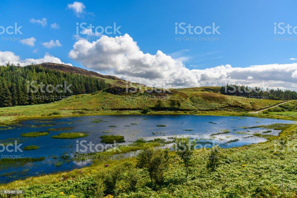 Wonderful nature in the Isle of Skye. stock photo
