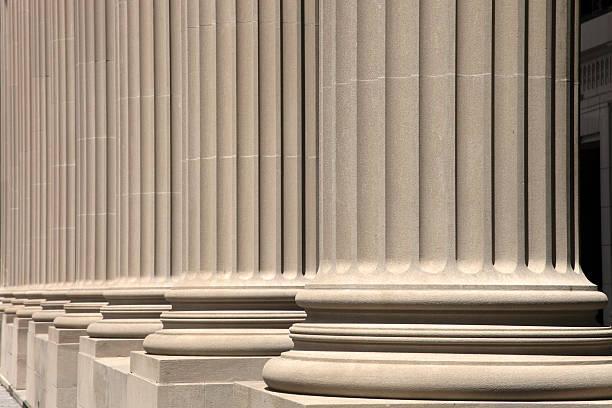 wonderful neoclassical columns stock photo