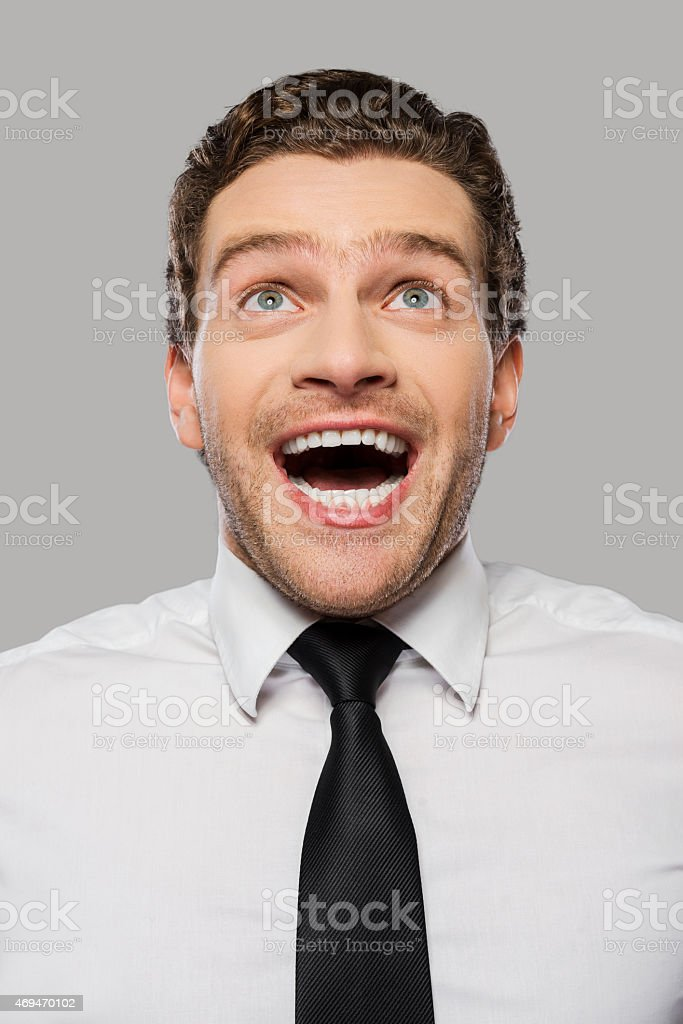 Wonderful news. stock photo