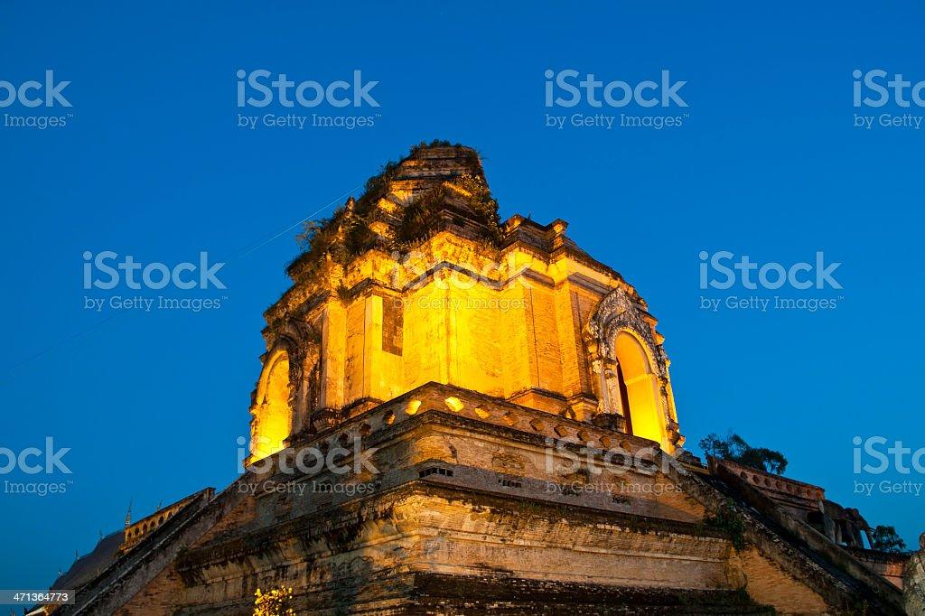 Wonderful Pagoda Wat Chedi Luang Temple,Chiang Mai stock photo