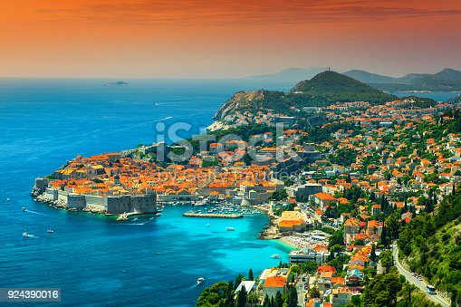 istock Wonderful panoramic view of the walled city, Dubrovnik, Dalmatia, Croatia 924390016