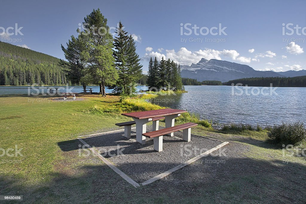 Wonderful place for picnic. royalty-free stock photo