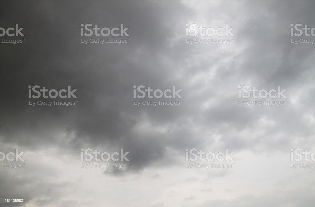 Wonderful rainy sky stock photo