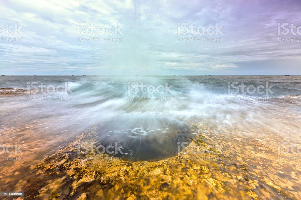 Wonderful Seascape with high waves photo libre de droits