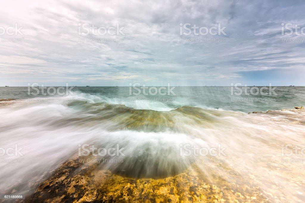 Wonderful Seascape with high waves Lizenzfreies stock-foto