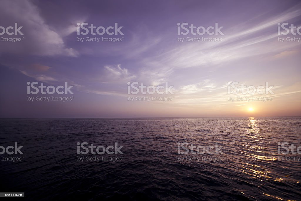 Wonderful Sunset At Maldives Islands royalty-free stock photo