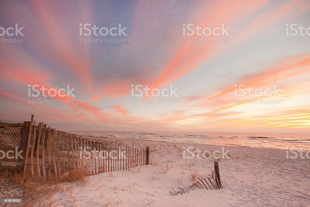 wonderful sunset stock photo
