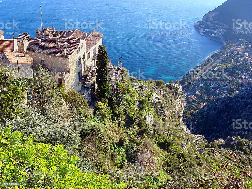 Wonderful view in Eze, French Riviera stock photo