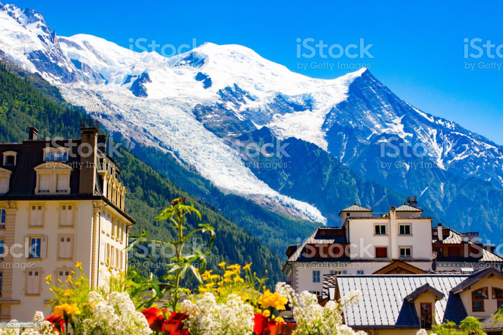 Wonderful view of Alps. Chamonix-Mont-Blanc. stock photo