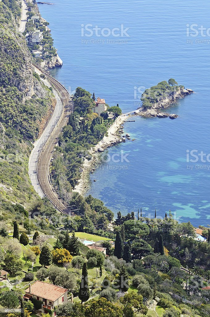 Wonderful view of French Riviera royalty-free stock photo