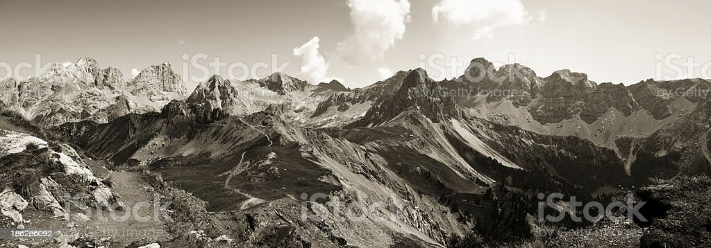Wonderful view of the Dolomites royalty-free stock photo