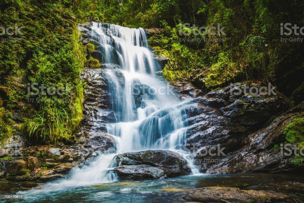 Wonderful waterfull in Matutu, Minas Gerais, Brazil stock photo