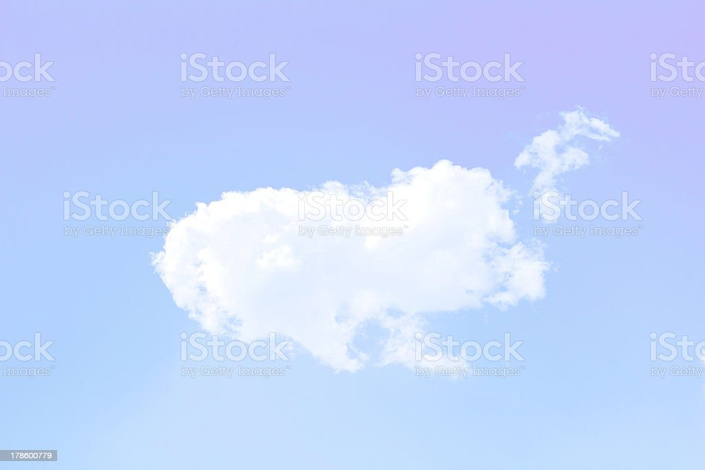 Wonderful white Clouds and Sunlight royalty-free stock photo