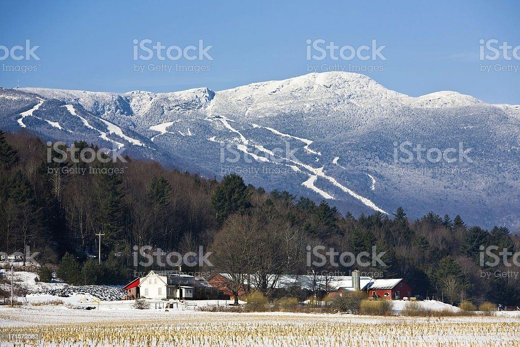 Wonderful Winter in Stowe royalty-free stock photo