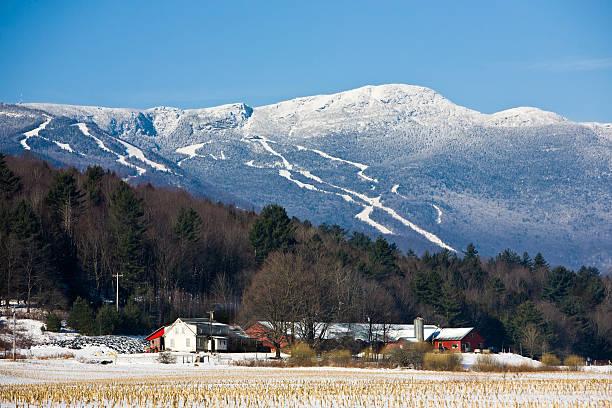 Wonderful Winter in Stowe stock photo