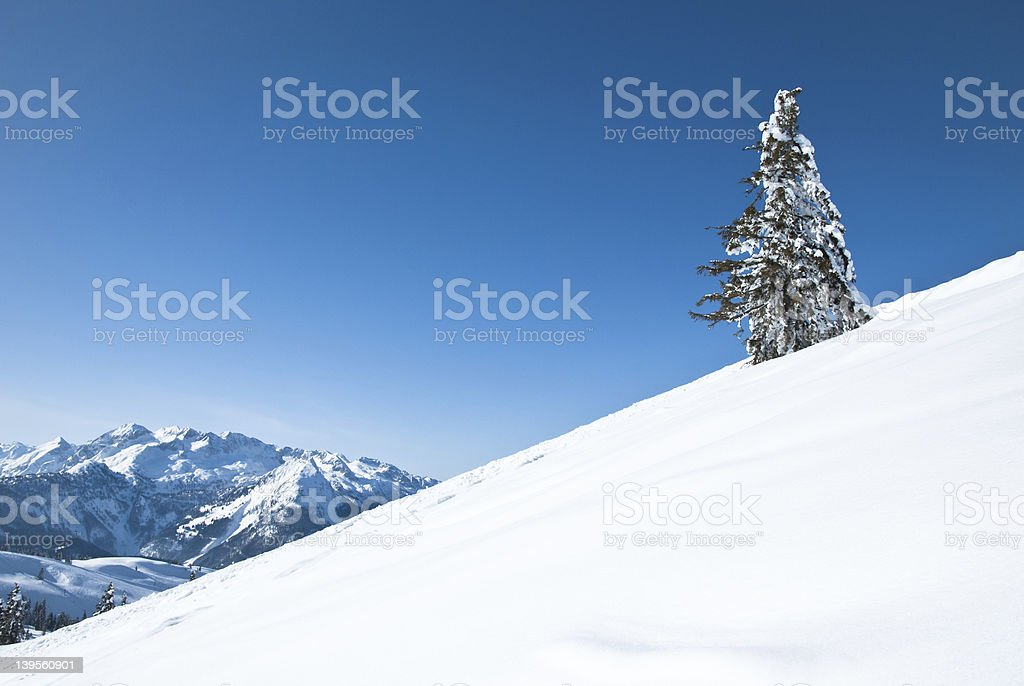 Wonderful winter landscape of the Austrian Alps royalty-free stock photo
