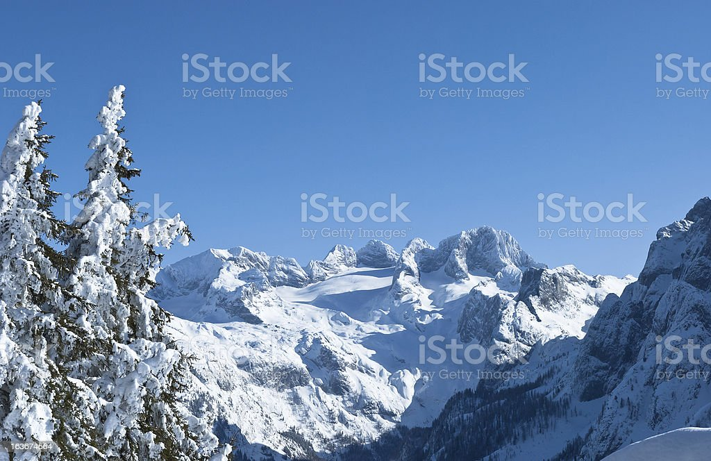 Wonderful winter landscape of the Austrian Alps stock photo