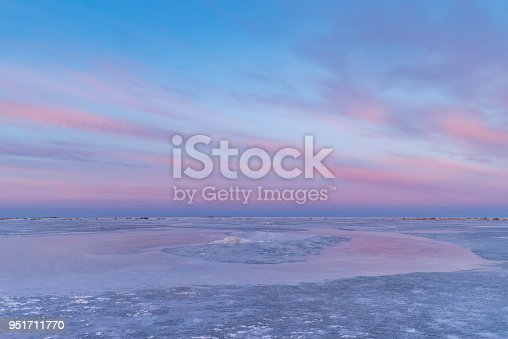 amazing sky, cloud, ice and sea, icecovered sea