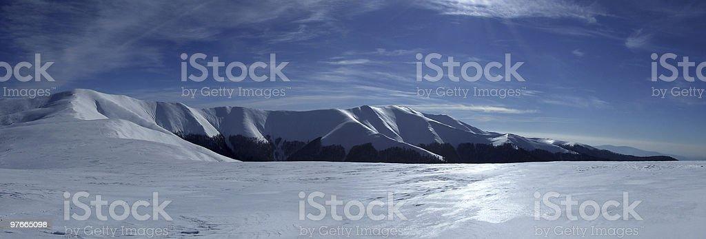 Wonderful Winter Mountains royalty-free stock photo