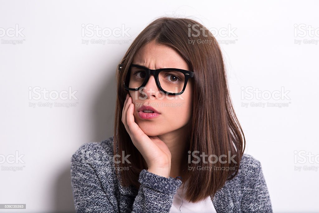 Wondering girl royalty-free stock photo