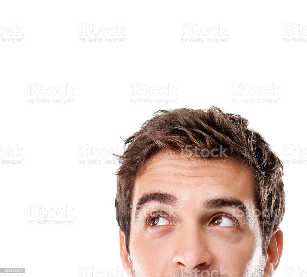 Wondering what this copyspace will hold... royalty-free stock photo
