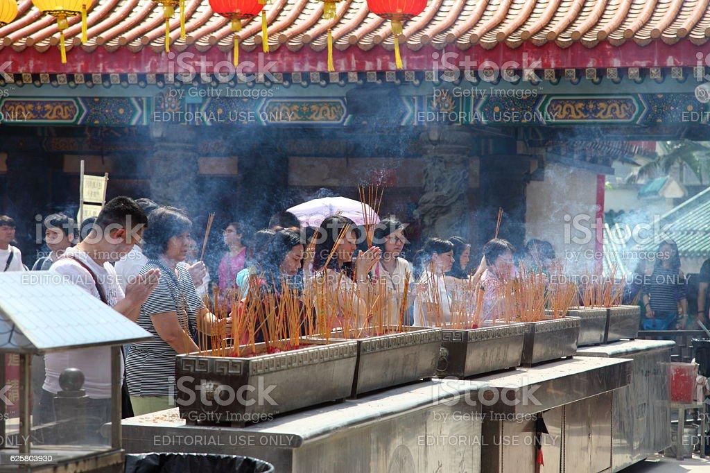 Wong Tai Sin Buddhist Temple stock photo