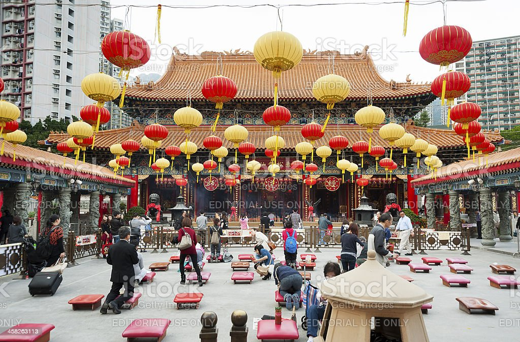 Wong Tai Sin temple royalty-free stock photo
