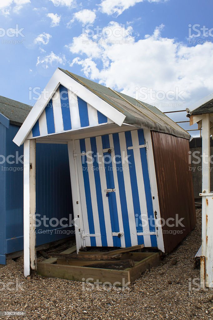 Wonky Beach Hut foto royalty-free