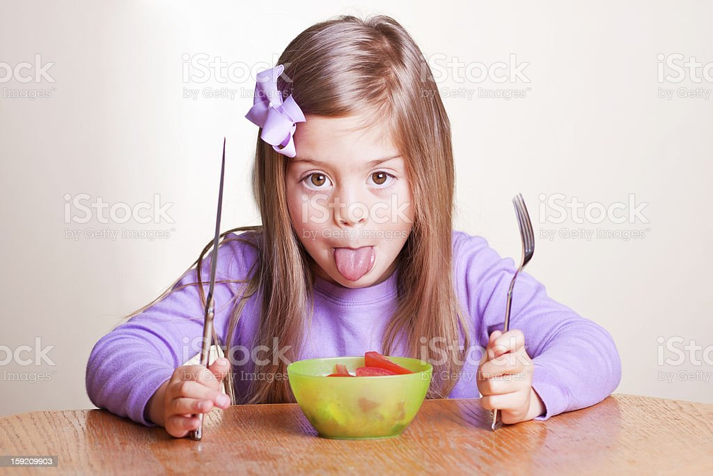 I won't Eat it royalty-free stock photo
