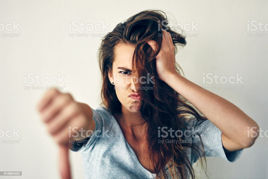I won't stand for it! stock photo