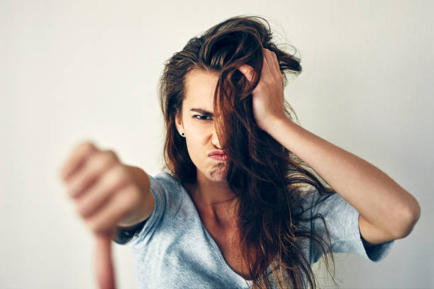 i won't stand for it! - messy hair stock photos and pictures