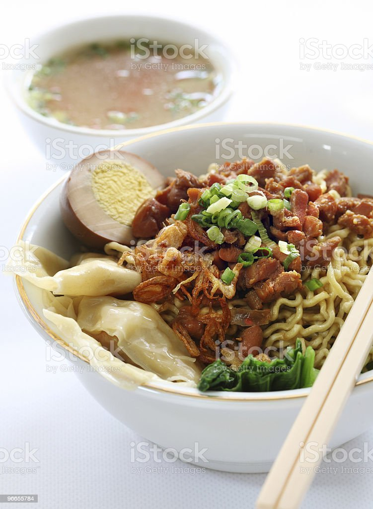 Wonton Noodle Soup royalty-free stock photo