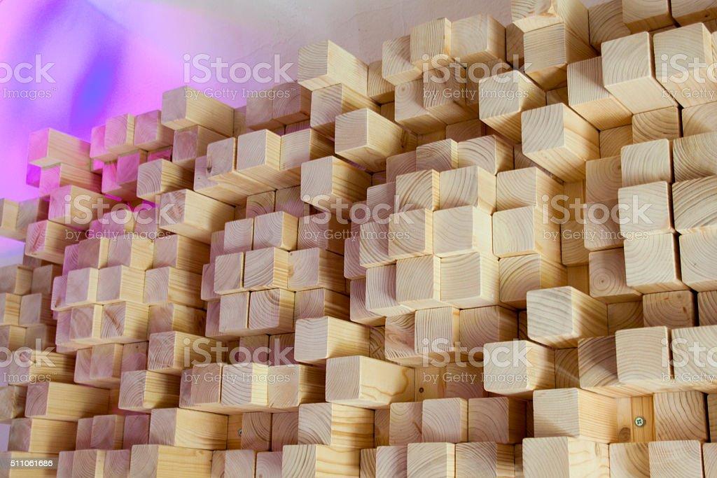 Wood acoustics in the recording studio stock photo
