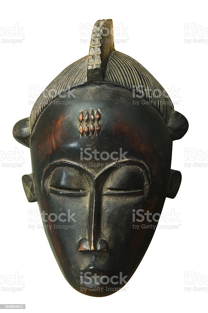 Wood african mask stock photo