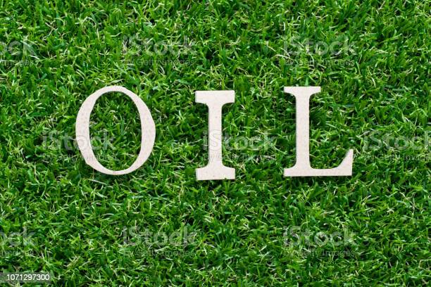 Wood alphabet in word oil on artificial green grass background picture id1071297300?b=1&k=6&m=1071297300&s=612x612&h=xgknomnwb1eehbdnszokrkjfpmiovbhhrzpnivazaom=