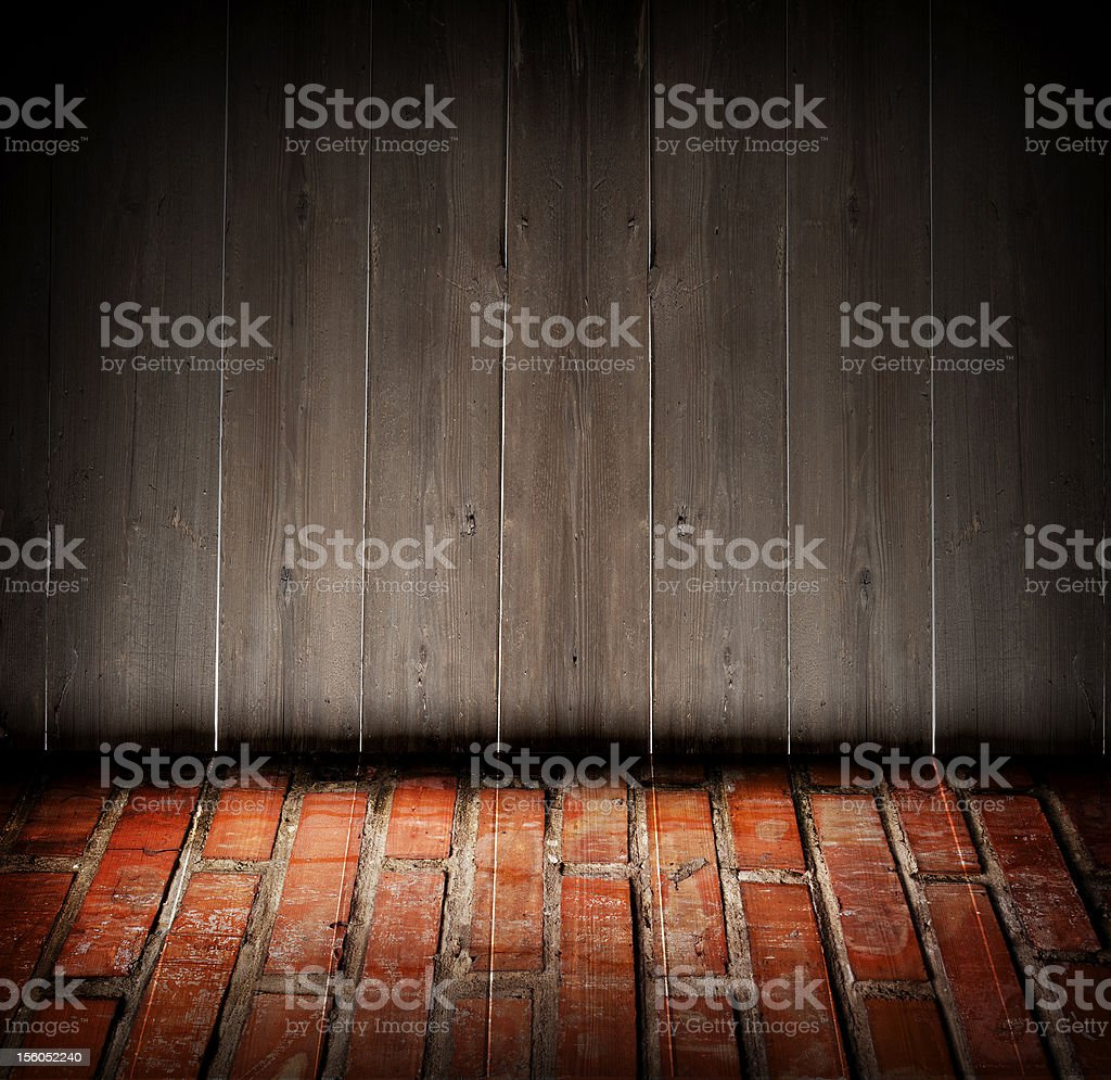 wood and bricks royalty-free stock photo