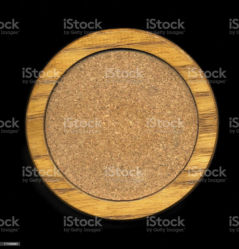 Wood and Cork Coaster stock photo