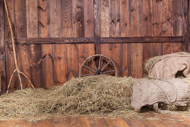 wood and hay background - west direction stock pictures, royalty-free photos & images