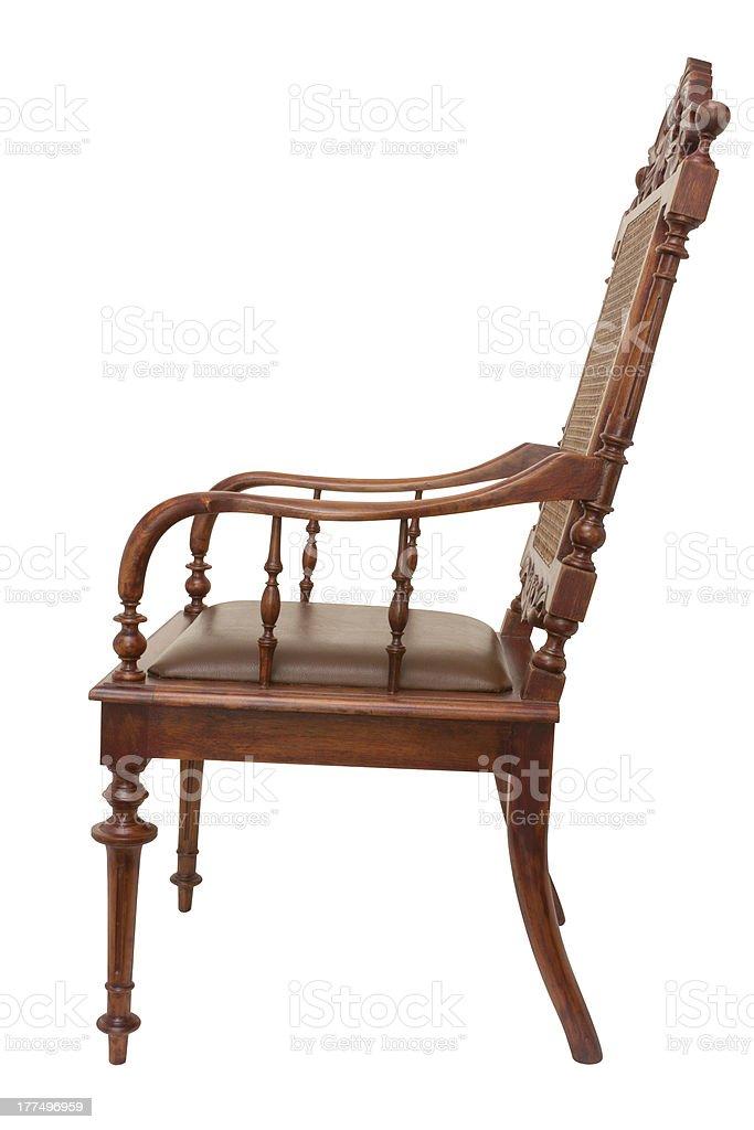 wood armchair royalty-free stock photo