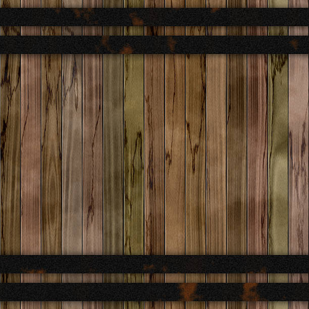 Wood barrel generated seamless hires texture stock photo