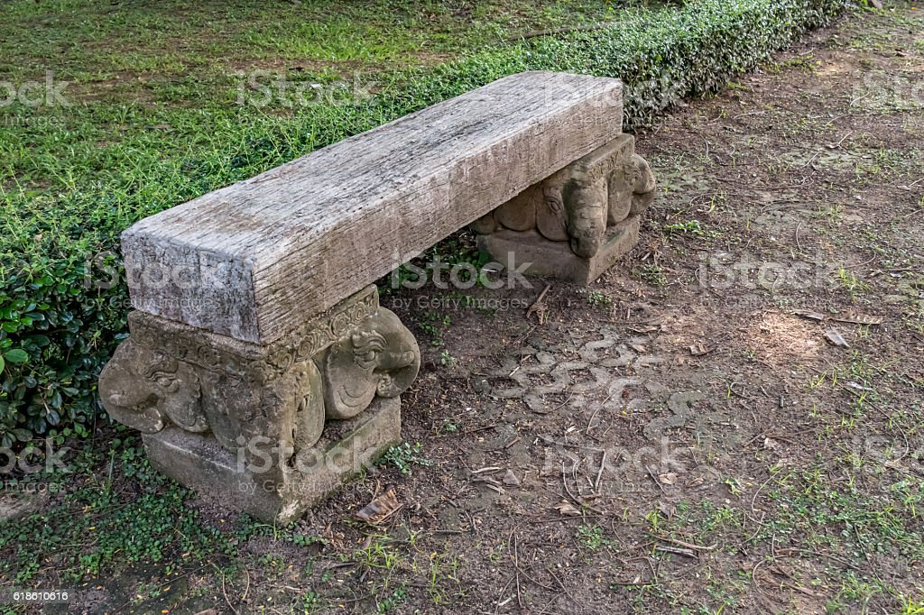 Peachy Wood Bench On Concrete Block Stock Photo Download Image Spiritservingveterans Wood Chair Design Ideas Spiritservingveteransorg