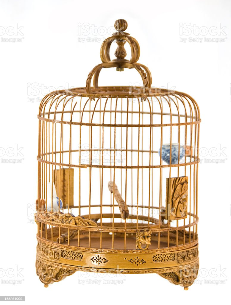 Wood Bird Cage royalty-free stock photo
