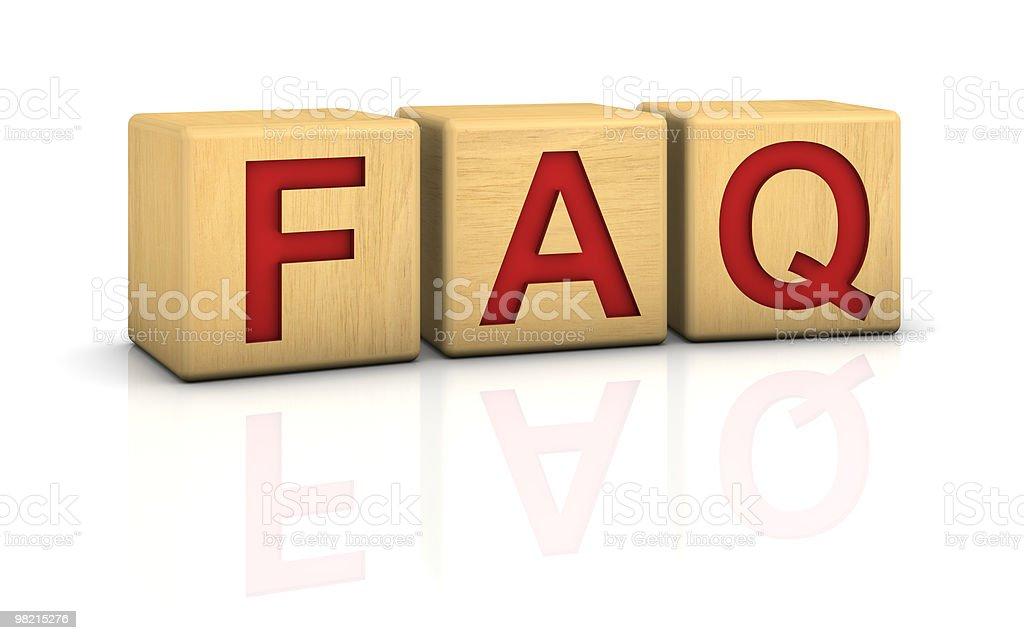 Wood blocks FAQ royalty-free stock photo